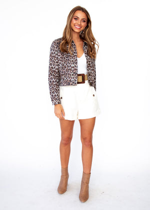 Next To Nothing Jacket - Leopard