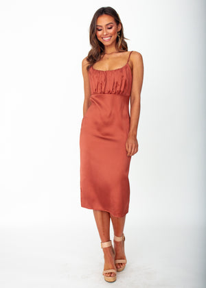 Women's Bambina Midi Dress - Copper