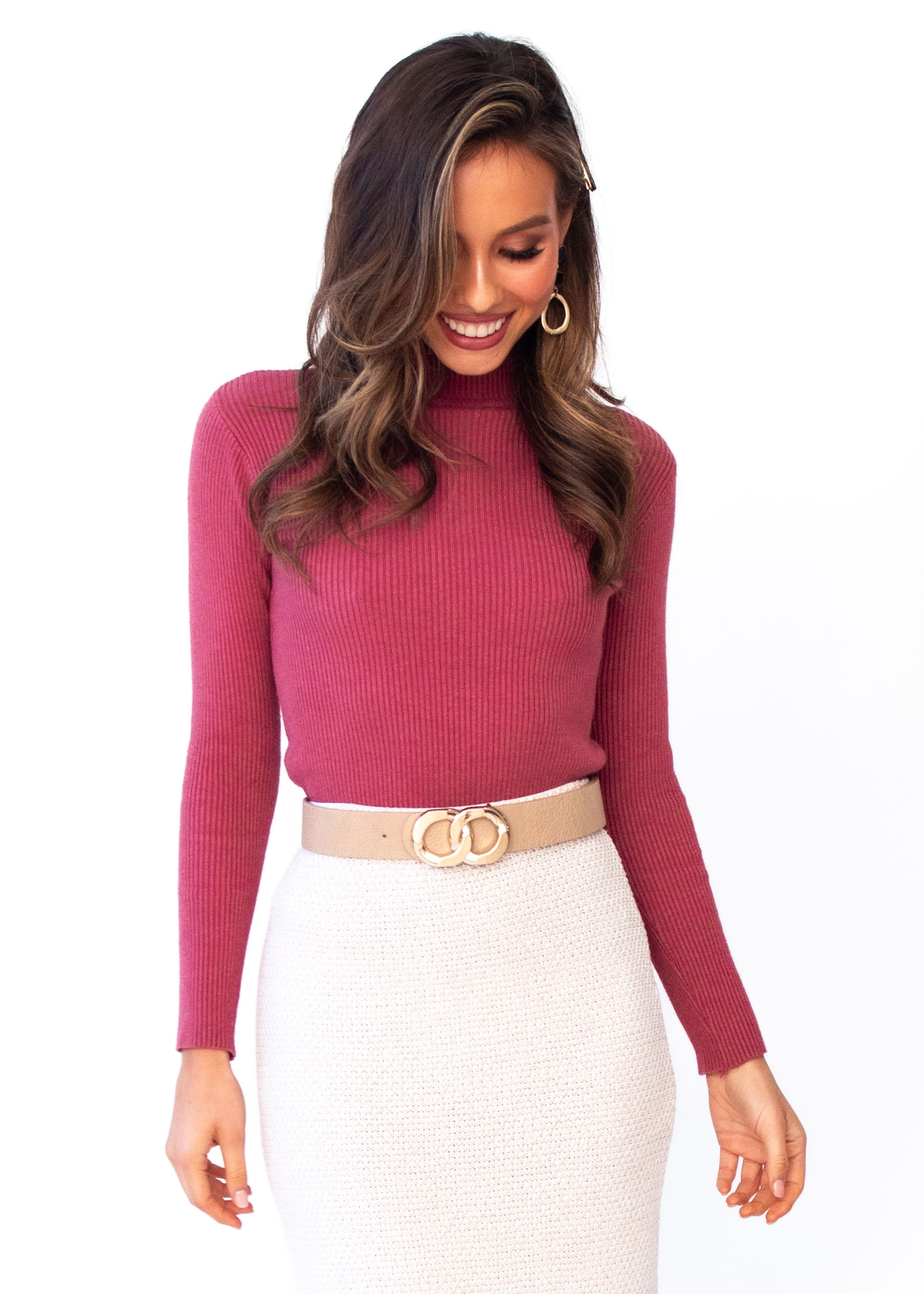 Women's Rhynne Knit Top - Rose