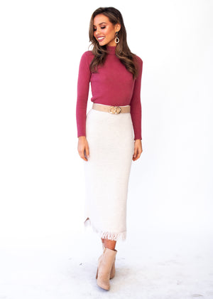 Rhynne Knit Top - Rose