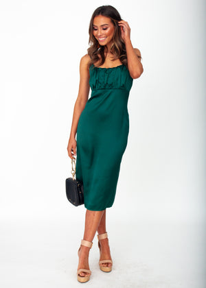 Bambina Midi Dress - Emerald