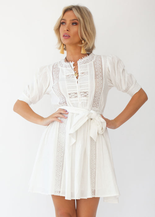 Verona Mini Dress - White