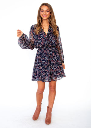 Renewed Tunic Dress - Navy Floral
