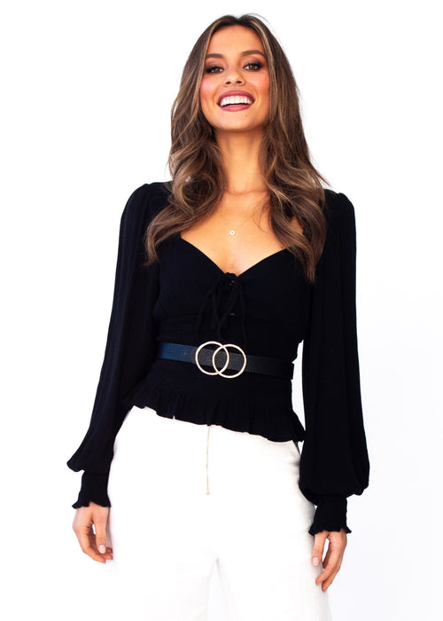 Women's Tahleah Blouse - Black