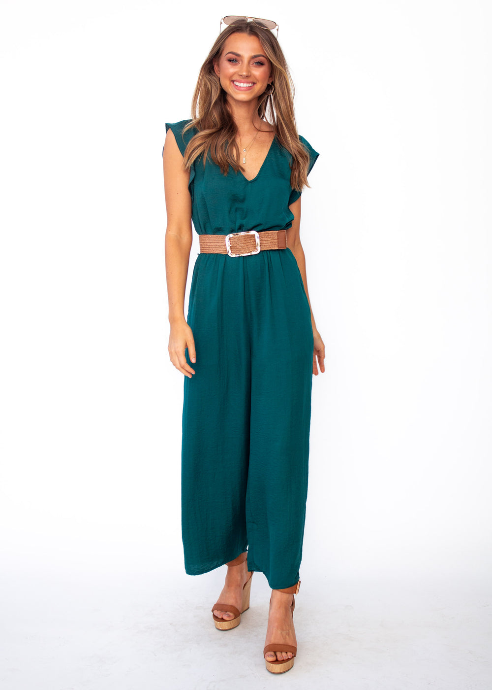 Women's At Last Pantsuit - Emerald