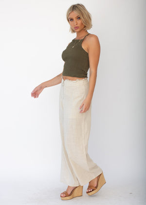 Cecilia Crop Top - Khaki
