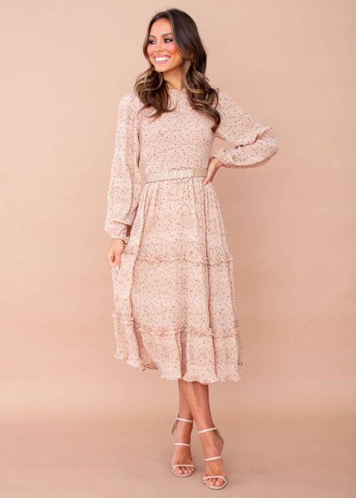 Glasgow Midi Dress - Nude Spot
