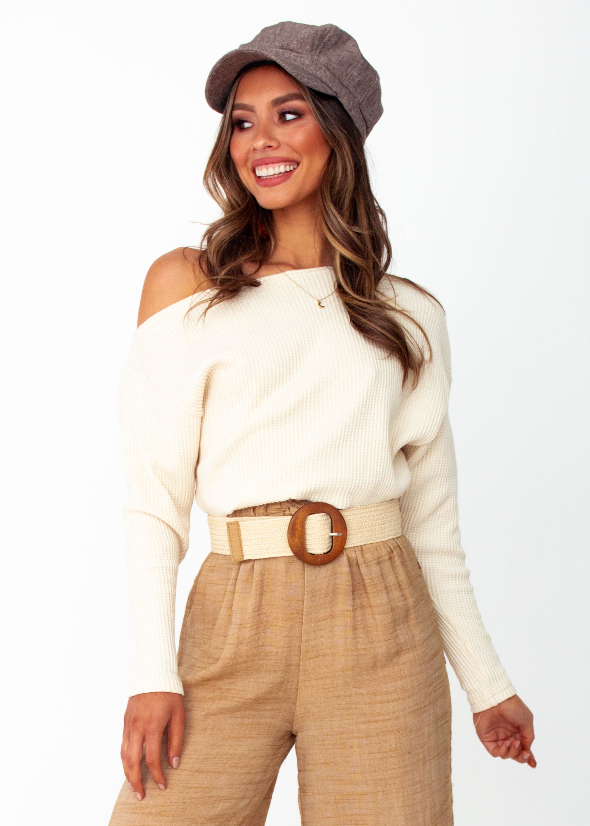 Women's Genevieve Knit Top - Cream