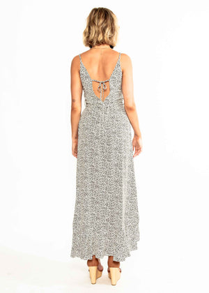 Sweet Fling Midi Dress - White Spot