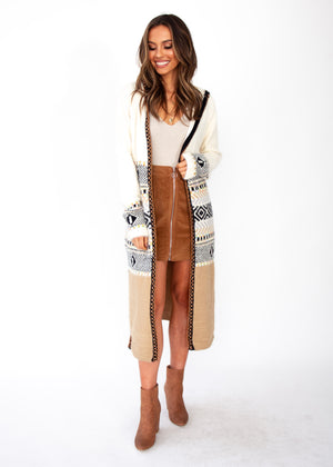Tawney Hooded Cardigan - Cream