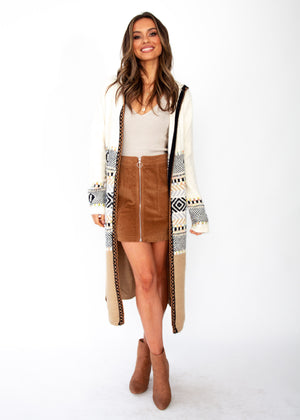 Women's Tawney Hooded Cardigan - Cream