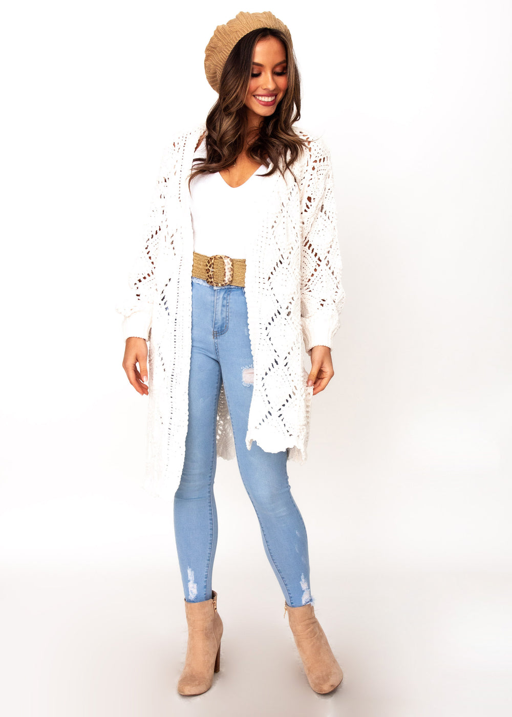 Women's Malibu Sunset Cardigan - Cream