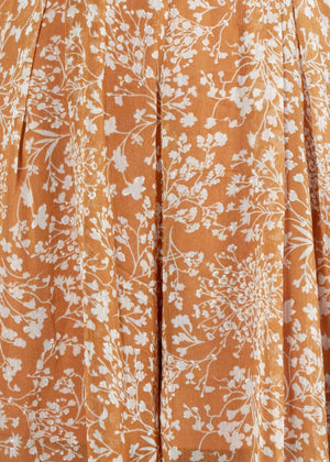 Once Before Pantsuit - Rust Floral