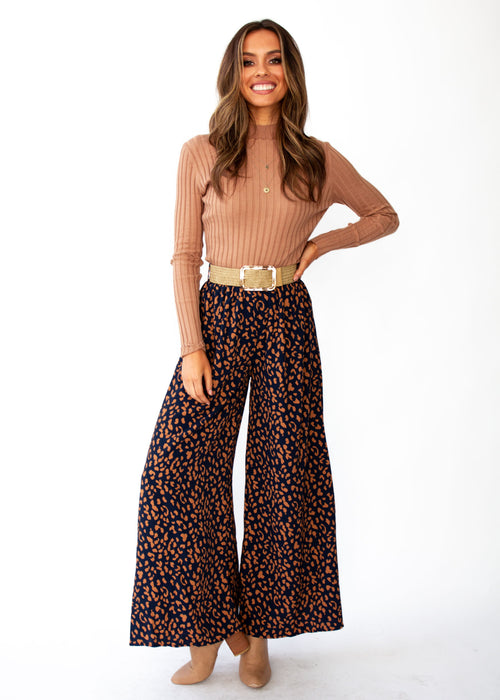 Summertime Magic Pants - Navy Leopard Print