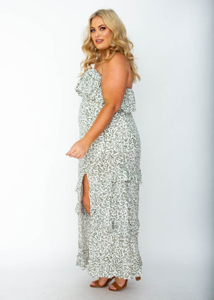 Bexley Strapless Maxi Dress - White Vine