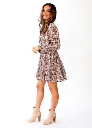 Fancy That Swing Dress - Nude Leopard