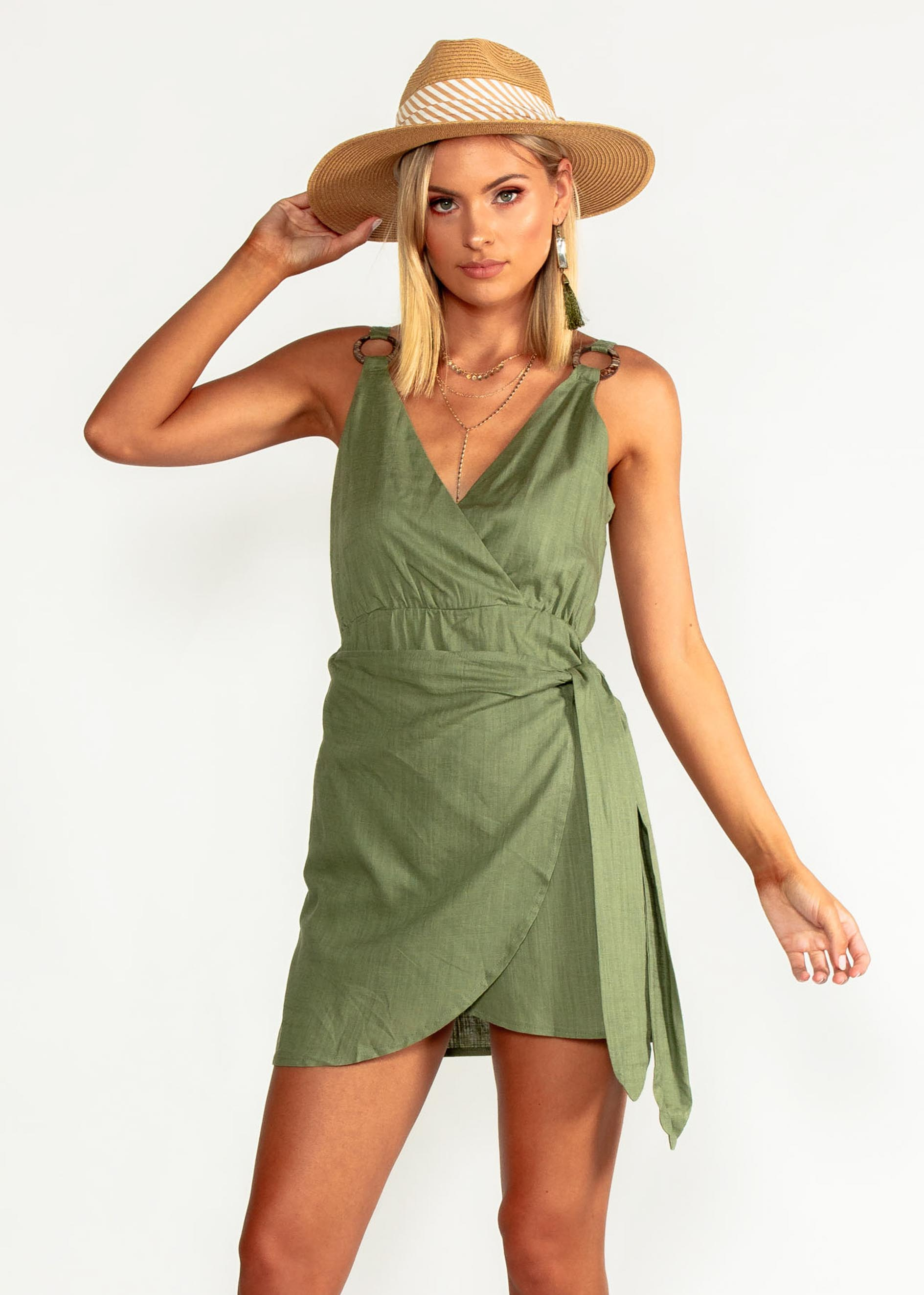 Without Your Love Dress - Khaki