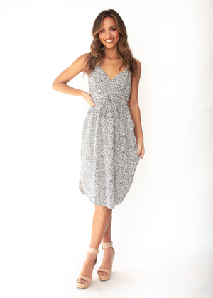 Women's Love No More Midi Dress - White Dot Print