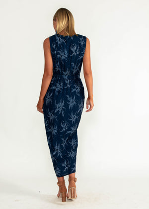 Catalina Zip Maxi Dress - Starry Night