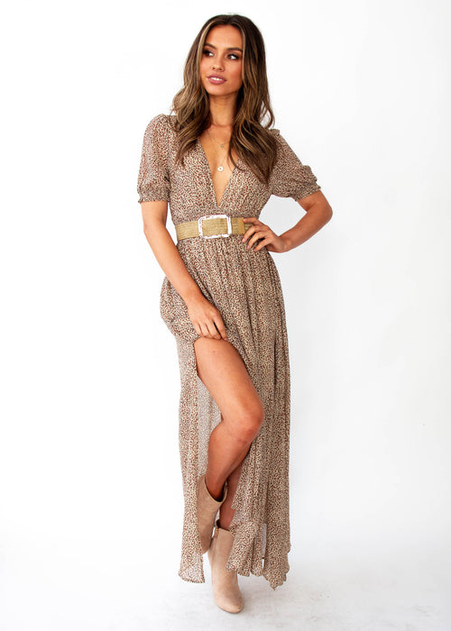 Women's Call You Mine Maxi Dress - Leopard Print