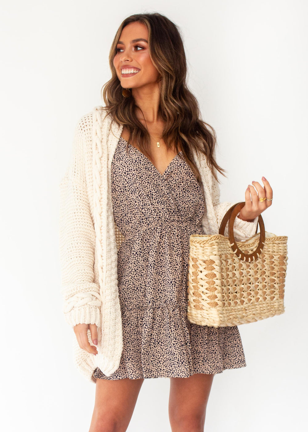 Women's Free Feeling Cable Cardigan - Cream