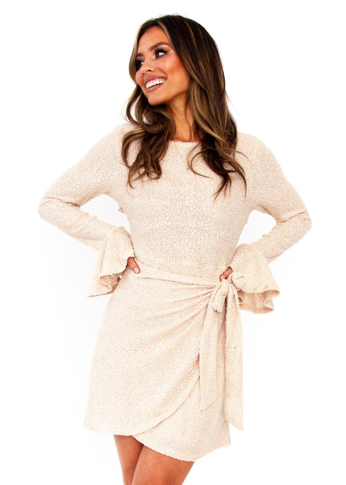 Women's Tonal Nights Dress - Beige