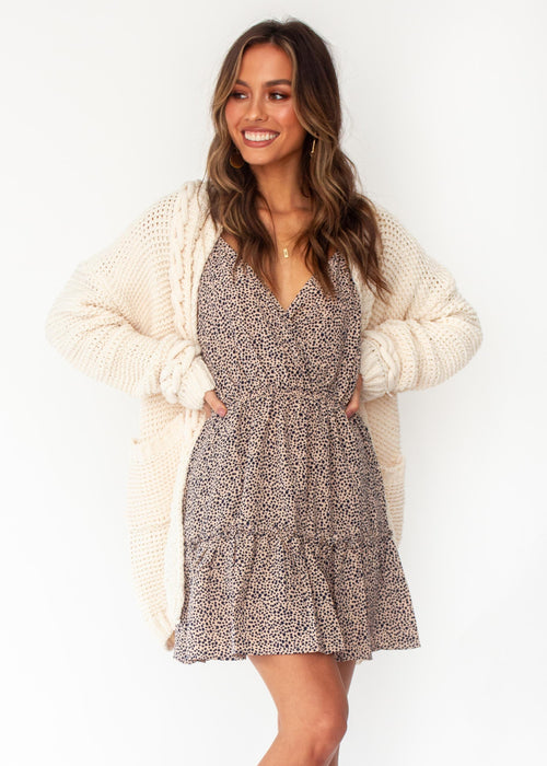 Free Feeling Cable Cardigan - Cream