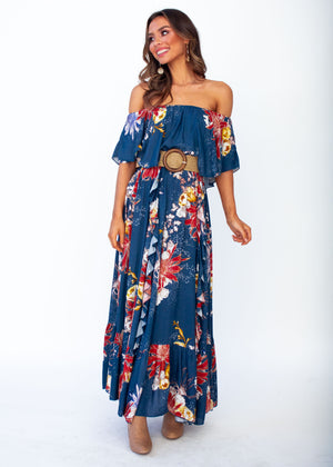 Georgie Off Shoulder Maxi Dress - Liza - Jaase