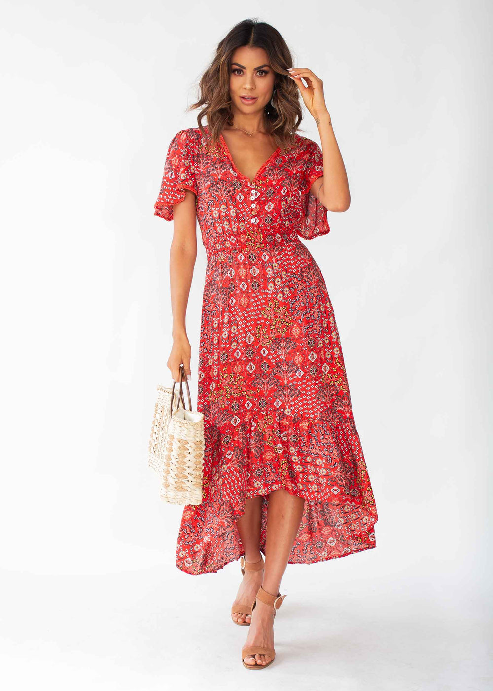 California Valley Midi Dress - Fiesta