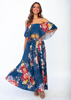 Women's Georgie Off Shoulder Maxi Dress - Liza - Jaase