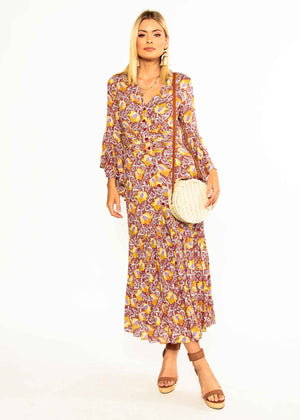 Everything Is Love Maxi Dress - Red Bloom