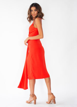 Neo Midi Dress - Red