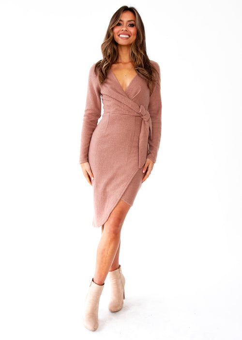 Women's How It Is Knit Dress - Mocha