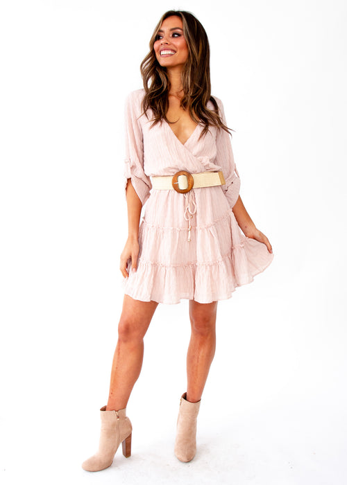 Make Me Shy Dress - Blush