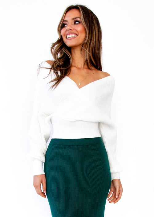 Women's Arya Knit Top - Cream