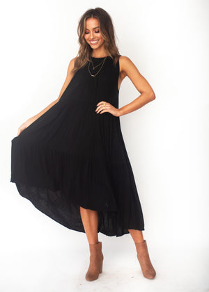 Everia Midi Dress - Black