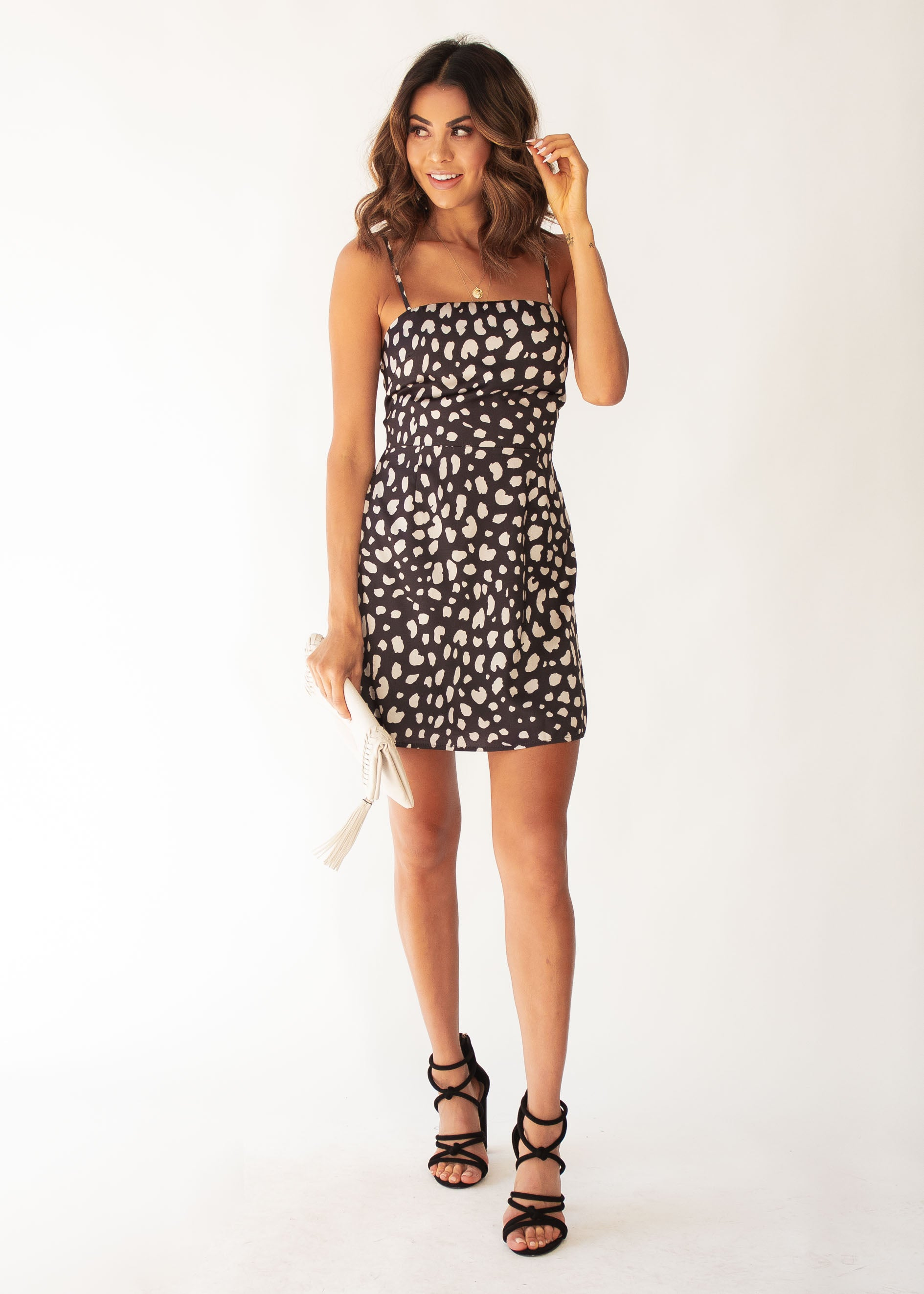 All Nighter Dress - Black Leopard