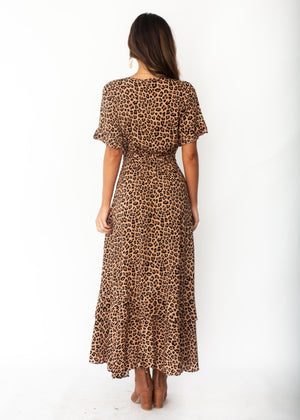 Feel Like This Hi-Lo Maxi Dress - Leopard