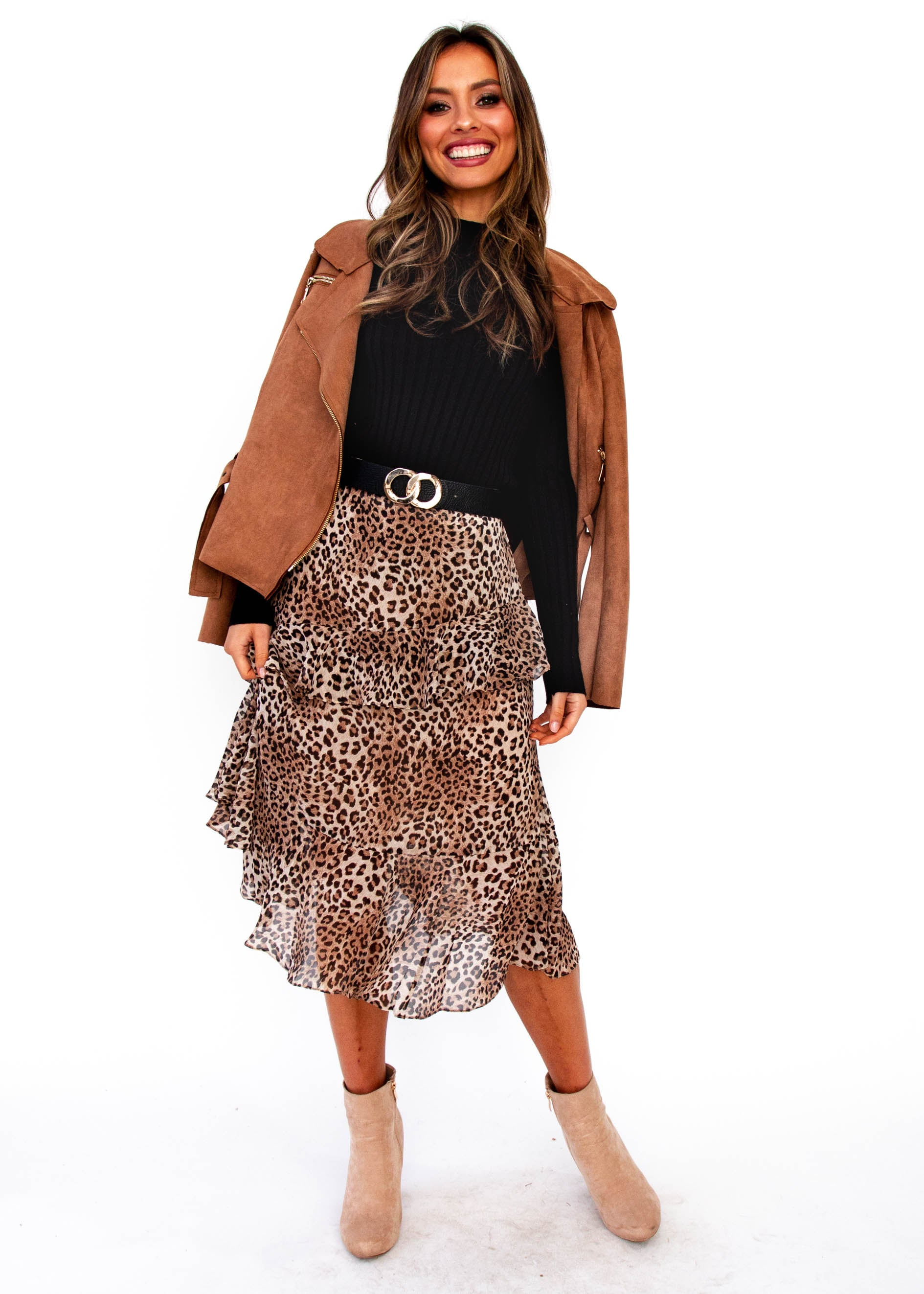 4c551c0d1 Game on Midi Skirt - Leopard – Gingham and Heels
