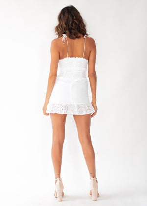 Ocean Anglaise Dress - White