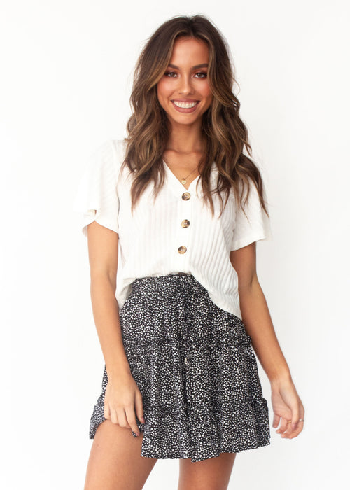 Delicate Matter Skirt - Black Dot