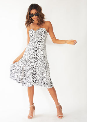 361d467c4e20e Strapless dress Strapless cheetah print summer long dress