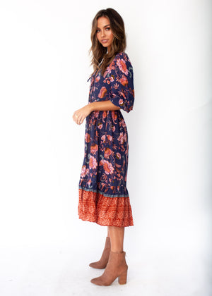 Dream In Colour Midi Dress - Dusk