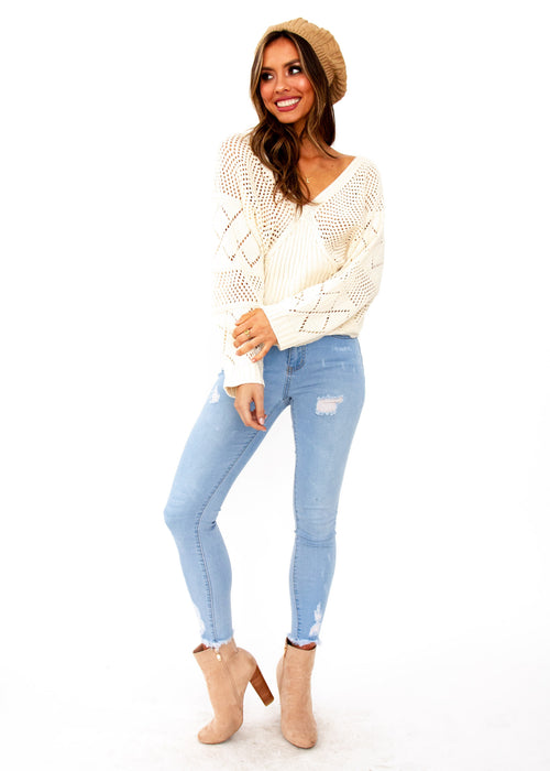 Moroccan Moments Knit Top - Cream