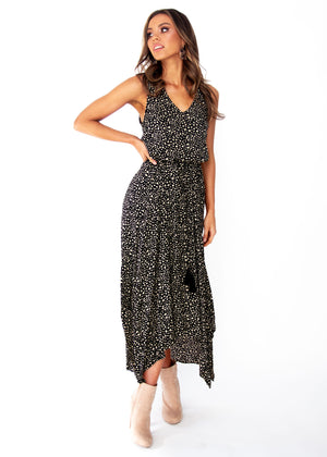 Kaycee Maxi Dress	- Black Spot