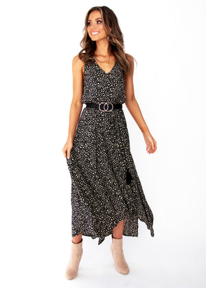 Women's Kaycee Maxi Dress	- Black Spot