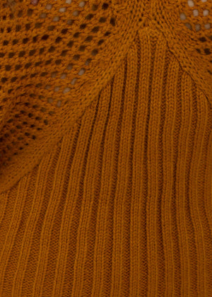 Moroccan Moments Knit Top - Rust