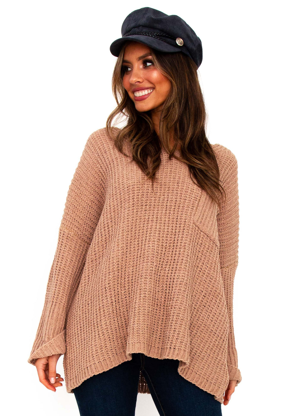 Women's Mikey Sweater - Tan
