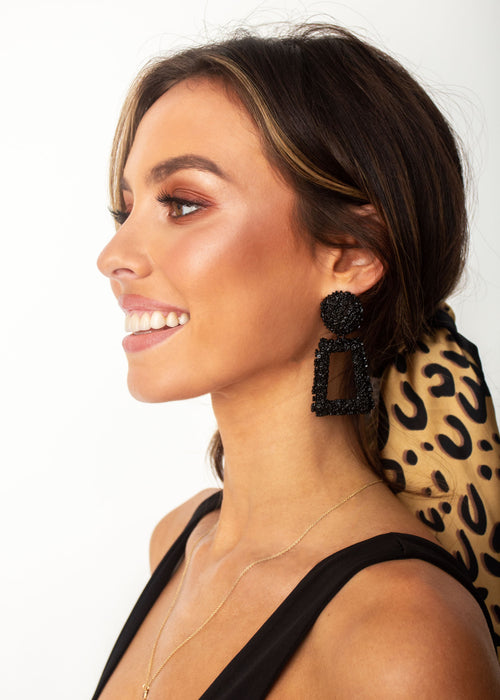 Women's Dynasty Earrings - Black