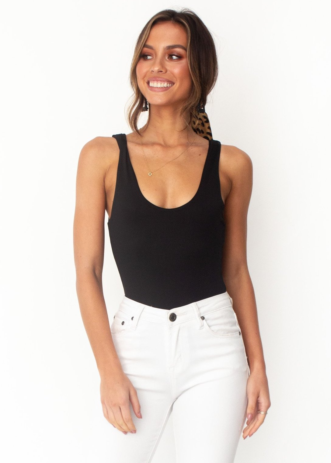 Women's Laycie Bodysuit - Black